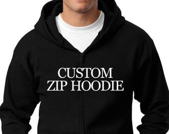 Create Your Own Zip Hoodie Men