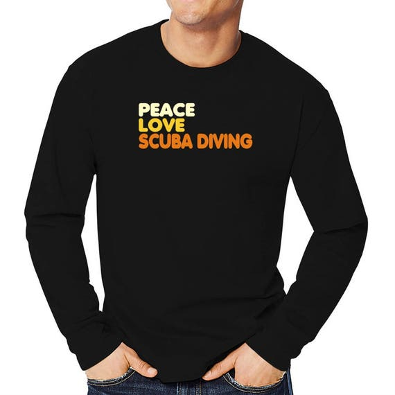 fc3a9ba5 Peace Love And Scuba Diving Long Sleeve T-Shirt | Etsy