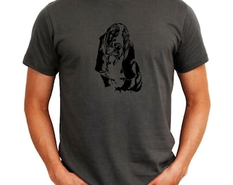 Basset Hound Face Special Graphic T-Shirt
