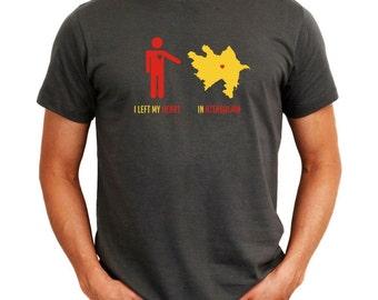 I Left My Heart In Azerbaijan  Map T-Shirt