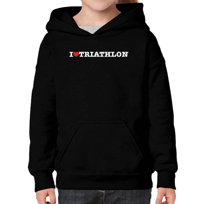 I Love Triathlon Children Hoodie