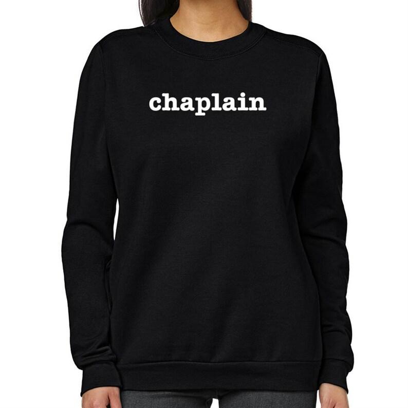 CHAPLAIN BY DAY NINJA BY NIGHT BLACK HOODIE HOODED SWEATSHIRT CHAPLAIN