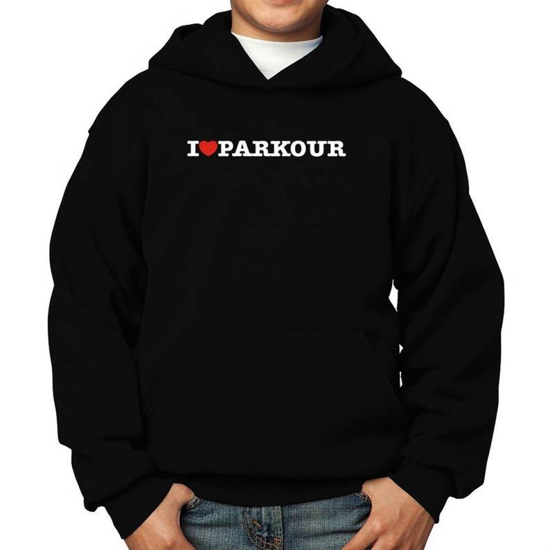 I Love Parkour Children Hoodie