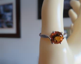 Femmes 14k Jaune or véritable araignée insecte Vintage Fantaisie Fashion Ring Band