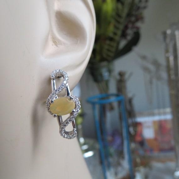 Flowered Ear Wires 2.5 IN Long Genuine 1.82ctw Ruby /& Lab White Sapphire 925 Sterling Silver DropDangle Earrings 4.9 Grams