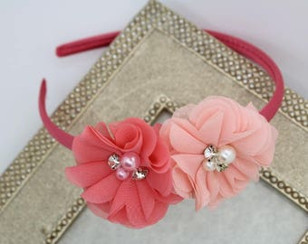 Girls peach headband 133477715ff