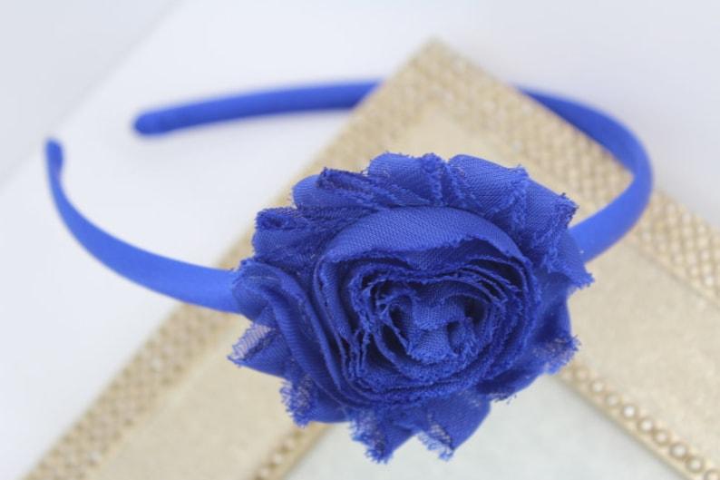 Royal blue headband girls headband toddler headband flower  6fe2a63c932