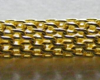Großhandel Messing 4mm Runde Mailänder Kette X 25 m