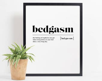 Marvelous Bedroom Wall Decor, Bedroom Wall Art, Bedgasm Definition Print, Bedroom  Printable, Bedroom Definition Poster, Bedroom Prints Black And White