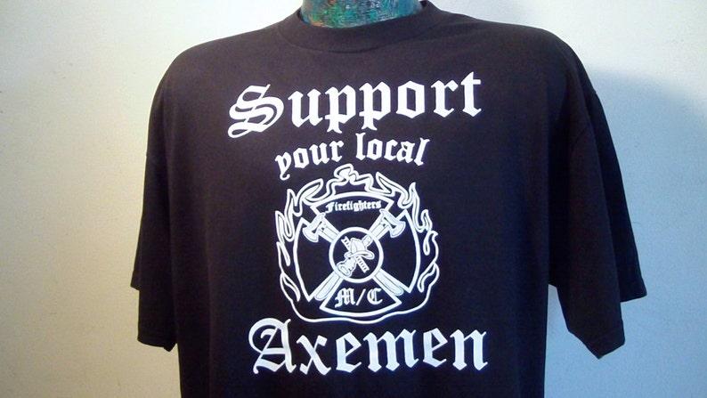 Detroit AXEMEN M/C Support Shirt, Men's Large, Super Nice Shape, Never  Worn, Harley Davidson, Biker, Firefighter, Michigan, Cool!!