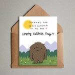 Bigfoot Father's Day Card - Printable Card for Dad - Sasquatch Father's Day Card - Instant Download- Thanks Dad Funny Greeting Card from Kid