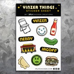 Pittsburgh Stickers - Yinzer Things Vinyl Weatherproof Laptop Stickers - Pierogi, Ketchup, Parking Chair - Pittsburgh Gift + Souvenir