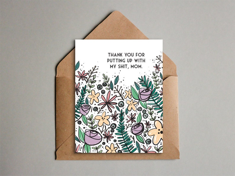 Funny Mother's Day Card  Printable Card Thanks for image 0