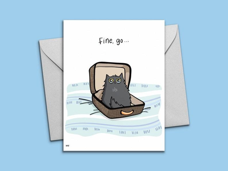 printable sad cat goodbye card farewell digital greeting