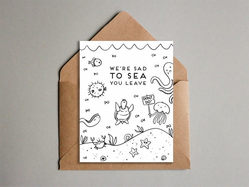 Printable Don't Go Goodbye Greeting Card  From All of Us image 0
