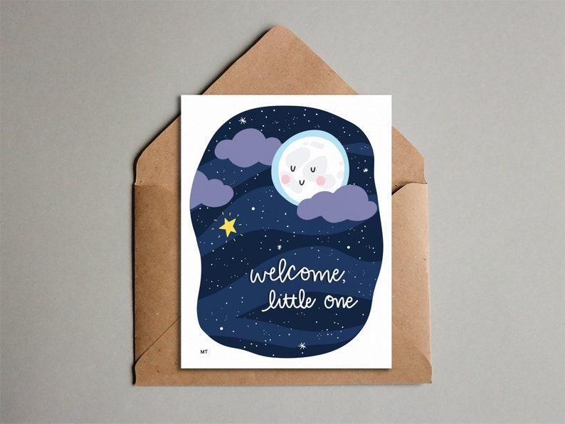 New Baby Card  Printable Congrats Card  Baby Card image 0