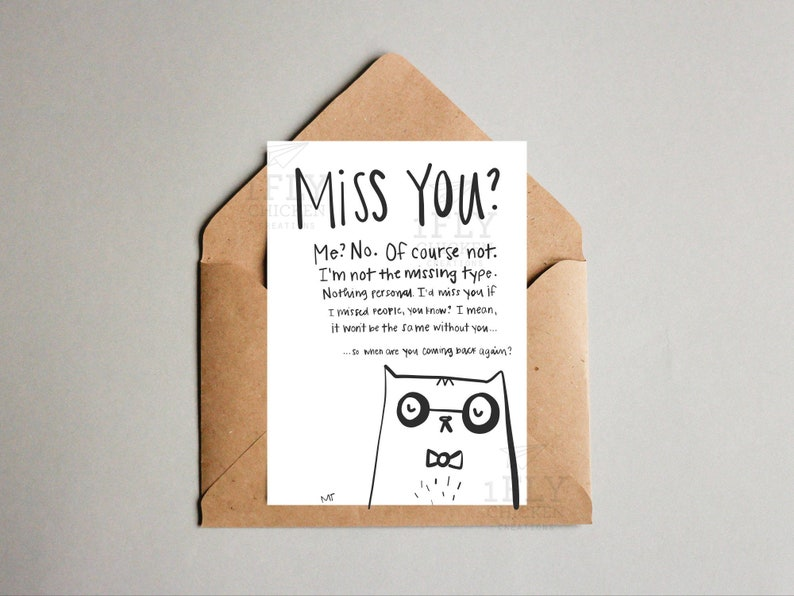 Printable Grumpy Cat Goodbye Greeting Card Sassy Leaving Moving Saying Farewell Instant Download Black White Miss You Card