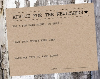 Marriage Advice Cards / Sets of 25
