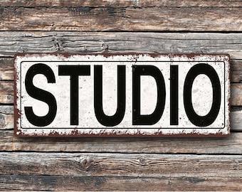 Studio Metal Street Sign, Rustic, Vintage    TFD2050