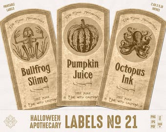 vintage halloween labels digital apothecary label old etsy