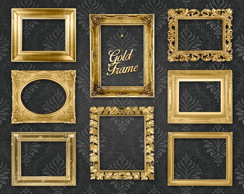 746665d4350 Gold Picture Frame Clip Art Clipart  Gold Frames