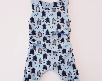 Made To Order - Boys, Girls, Unisex - Handmade GROW WITH ME romper / dungarees, size 3-12 m, 1-3 yrs, 3-6 yrs - Large range of fabrics