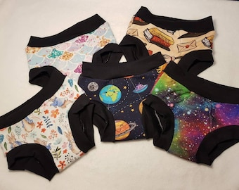 Mystery print/lucky dip - Boys & Girls, Unisex - DAY TIME - Training underwear, Waterproof, Fully lined, Sizes 18 months to 12 years