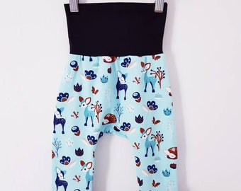 Made To Order - Boys, Girls, Unisex - GROW WITH ME Harem pants with no pockets, size 3-12 m, 1-3 yrs, 3-6 yrs - Large range of fabrics