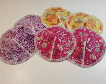 """Set of 2 - Re-usable Shaped 5.5"""" Breast pads -Low, Medium, High Absorbency, PUL waterproof layer,Optional Extra soaker ZORB layer,Zero Waste"""