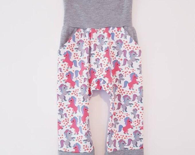 Made To Order - Boys, Girls, Unisex - GROW WITH ME Harem pants with slit pocket,size 3-12 m, 1-3 yrs, 3-6 yrs - Large range of fabrics
