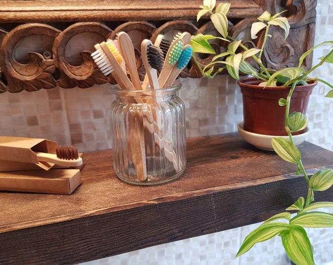 Children's bamboo toothbrush - Plastic free, Zero waste, Reusable, Biodegradable