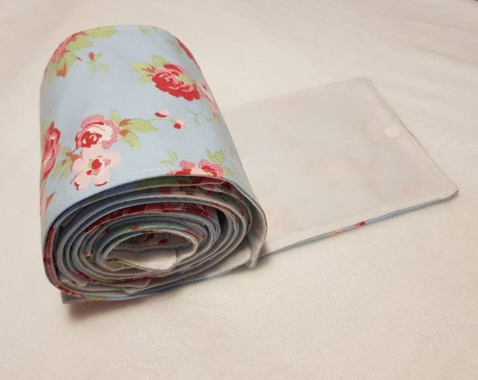 Ready to ship - Fabric re-usable toilet roll with snap buttons, 100% cotton, eco friendly, zero waste, plastic free