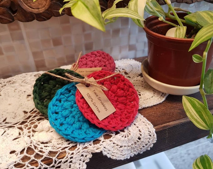 100% Cotton Crochet face rounds, Make up remover pads, Face pads, Zero waste, Plastic free, Reusable