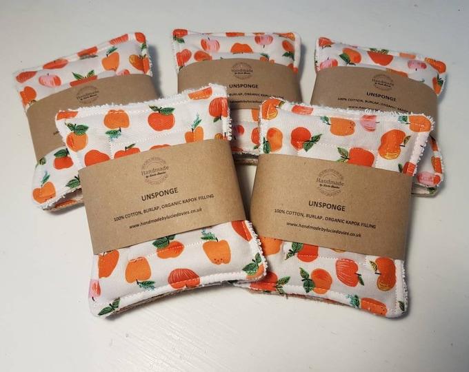 Teacher's gift - UnSponge - 2 pack - zero waste reusable sponges, 100% cotton, eco friendly, zero waste, plastic free