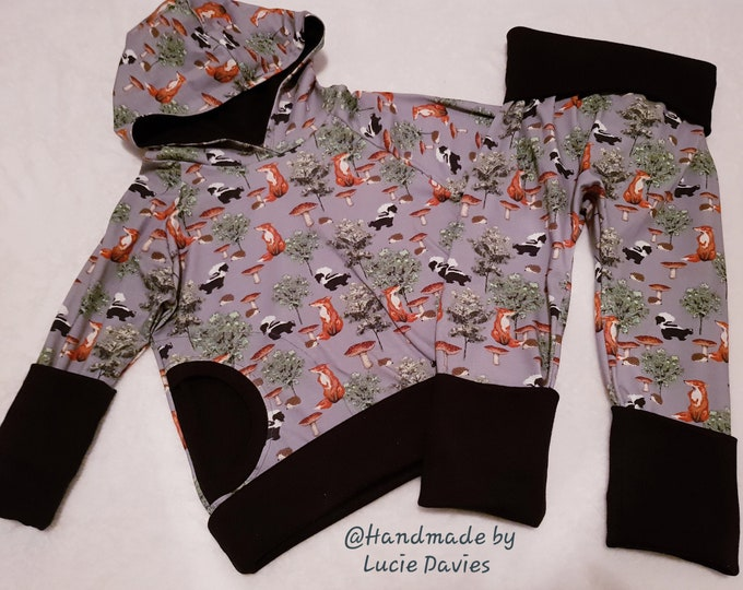 Made To Order - Boys, Girls, Unisex - Grow with meTracksuit (Hoodie & harem pants) - sizes from 3 months - 6 years - Large range of fabrics