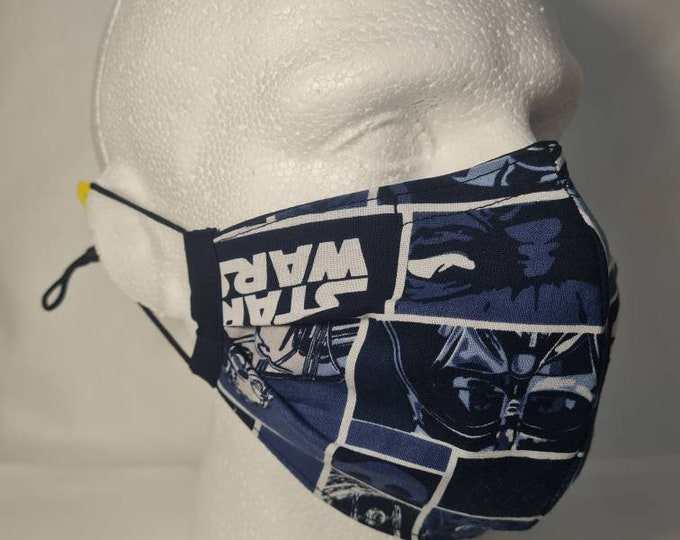 Movie themed - Wars - 2 Layer - Reversible - Reusable Face Mask - Washable