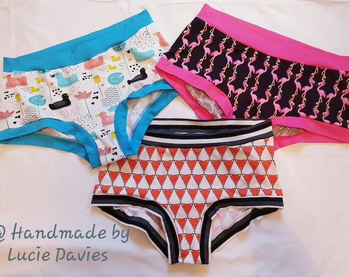 Mystery print/lucky dip - Ladies woman scrundies Scrundlewear pants underwear panties. Sizes XS - XXXXL. Plus size.