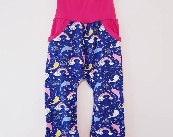 Made To Order - Boys, Girls, Unisex - GROW WITH ME Harem pants with peek a boo pocket,size 3-12 m, 1-3 yrs, 3-6 yrs - Large range of fabrics