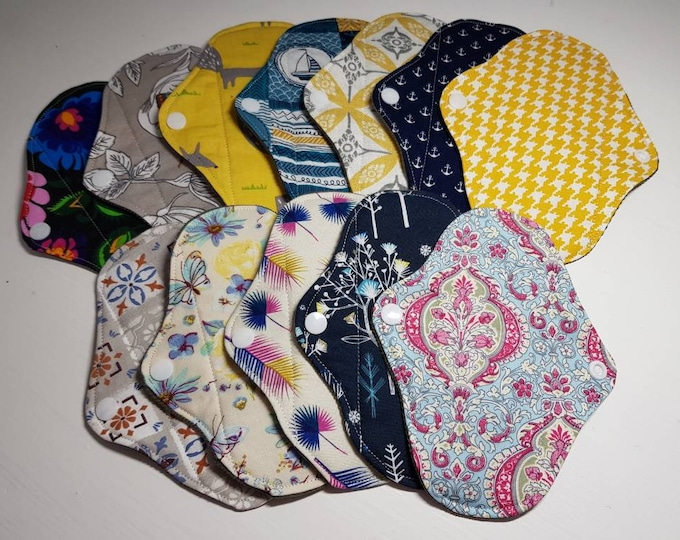 Cloth Panty Liners- Large, Small - Reusable Sanitary Pad, Zero Waste, Ecofriendly