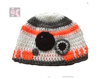 Star Wars BB8 Droid Wool Beanie Hat. May the Force be with You