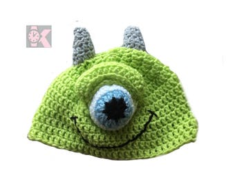 Monsters Inc & Monsters University - Mike the Wooly Beanie Hat. Are you scared yet?