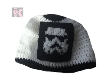 Star Wars - Stormtrooper Knitted Patch Retro Style Beanie Hat