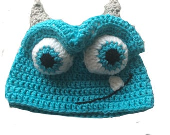 Monsters Inc & Monsters University - Sully the Wooly Beanie Hat. Are you scared yet?