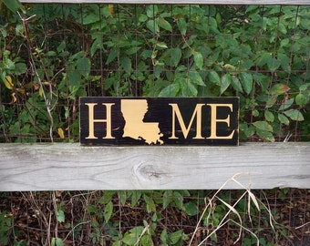 Louisiana Saints Home Sign, New Orleans Saints Home sign, Rustic Home, Southern Decor, Farmhouse decor, Man Cave, Cajun, Louisiana Home sign