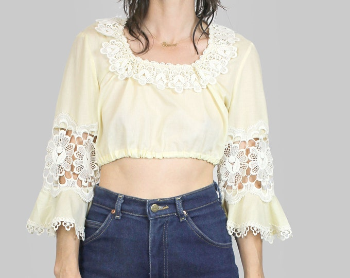 Cropped Peasant Blouse