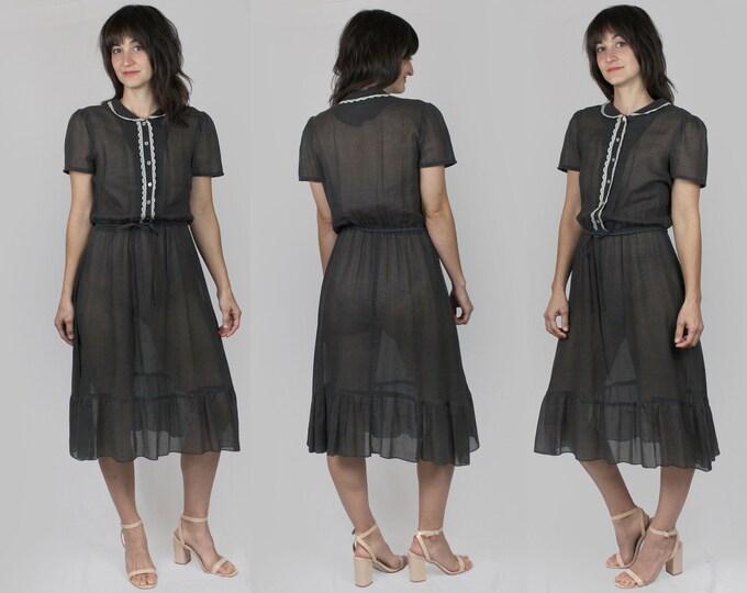 Sheer Secretary Dress