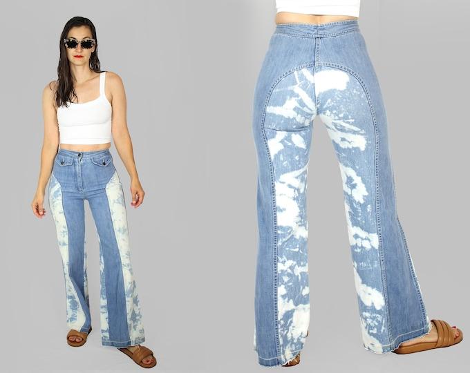70's High Waist Wide Leg Jeans 25