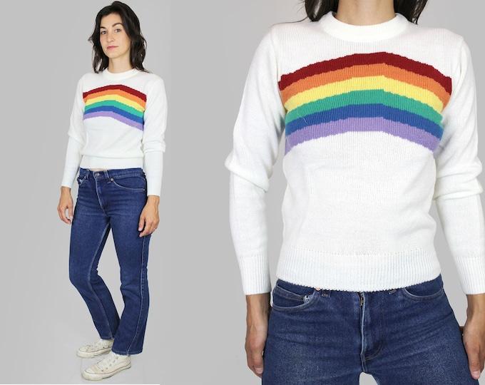 Rainbow Sweater Vintage