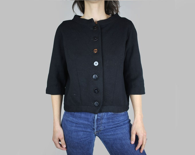 40s Kims Kimberly Knitwear Black Cardigan Sweater