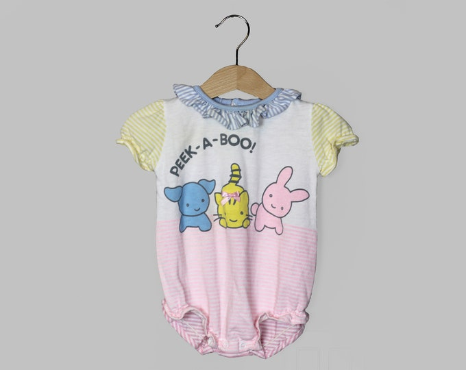 Buster Brown Romper Overalls Baby Girl 12 Months